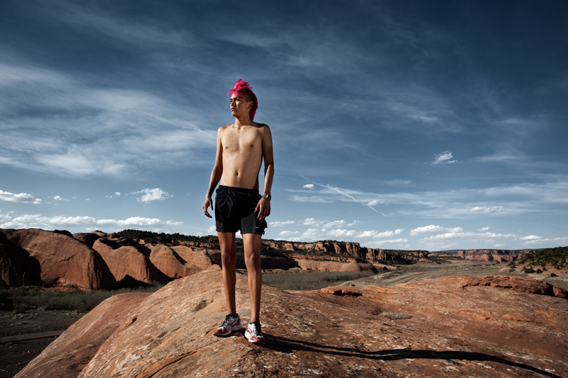 Thomas Martinez in Navajo, Photo by Ryan Heffernan
