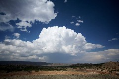 THE CLOUDS command notice in areas of New Mexico near Zia Pueblo, where the land opens up. (Photo by Jesse Green)