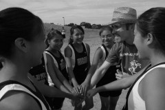 TIM HOST coached the high school cross country and track powerhouse at Navajo Pine. Though the school was located in a small town in northwestern New Mexico, Host built a team that included more than 40 students. (Photo by Joe Spring)